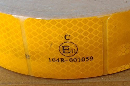 ECE104R Yellow Segmented Conspicuity Tape