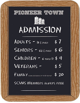 Admission sign 2020  rates Welcome Cente
