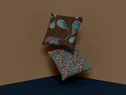 Free Brand Square Pillow Mockup Design P