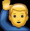 Man Saying Hi Emoji [Free Download iPhon