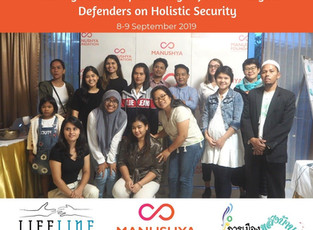 Mekong Follow-up Exchange of Human Rights Defenders on Holistic Security