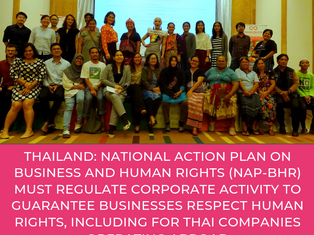 THAILAND - NAP on BHR must regulate corporate activity to guarantee businesses respect human rights