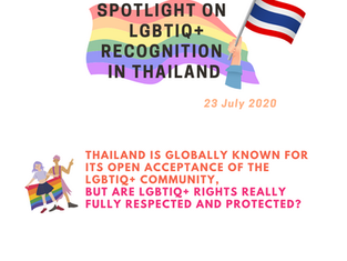 SPOTLIGHT on LGBTIQ+ Recognition in Thailand