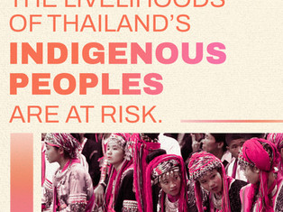 #IndigenousPeoplesDay: The Livelihoods of Thailand's Indigenous Peoples are at RISK!