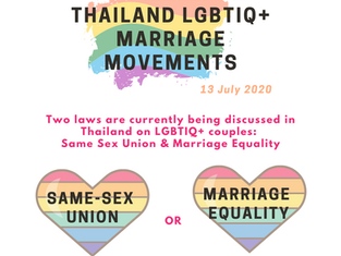 SPOTLIGHT on Thailand's LGBTIQ+ Marriage Movements