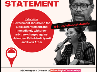 Indonesia: End the judicial harassment & withdraw arbitrary charges against Human Rights Defenders!