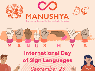 #SignLanguagesDay: Celebration of Hands that Hear!
