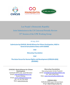 Joint CIVICUS MF FA UPR Joint Submisson