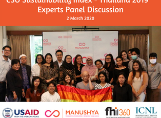 Experts Panel Meeting to discuss Civil Society Organization Sustainability Index (CSOSI) in Thailand