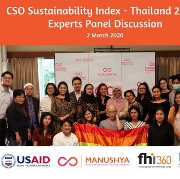 Experts Panel Meeting held to discuss the  Civil Society Organization Sustainability Index (CSOSI) for Thailand in 2019 - 2 March 2020