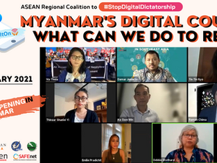Resisting Myanmar's Digital Coup: Voices from Frontline Defenders & ASEAN Solidarity