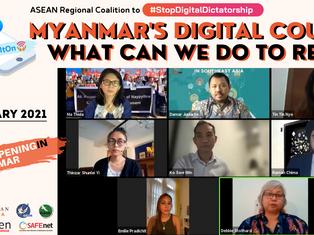 Resisting Myanmar's Digital Coup: Voices from Frontline Defenders & ASEAN Solidarity