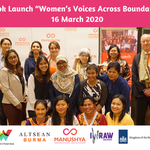 """Launch of the Book """"Women's Voices Across Boundaries"""" - 16 March 2020"""