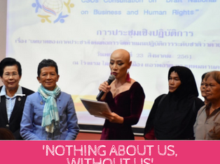 """Nothing About Us, Without Us"" - Thai BHR Network delivers its Statement about NAP process"