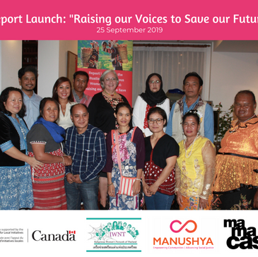 "Report Launch: ""Raising our Voices to Save our Future"" - 25 September 2019"
