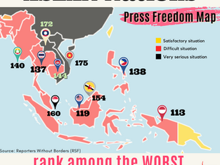 ASEAN countries rank among the WORST in the 2021 World Press Freedom Index!