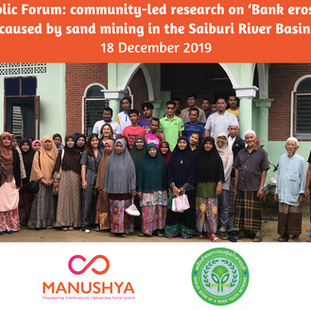 The Working Group for Monitoring on International Mechanisms and Saiburi River Basin Youth Network's Public Forum - 18 December 2019