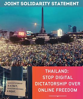 Joint Statement - #StopDigitalDictatorsh