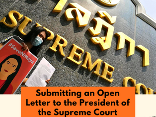 Submitting an Open Letter to the President of the Supreme Court to #SaveNittaya!