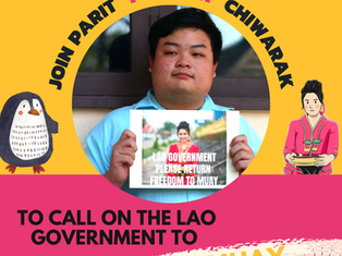 Join #Penguin and Call on the Lao Government to #FreeMuay from Jail!