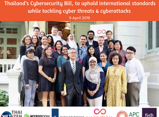 Experts Meeting to discuss the implementation of Thailand's Cybersecurity Bill