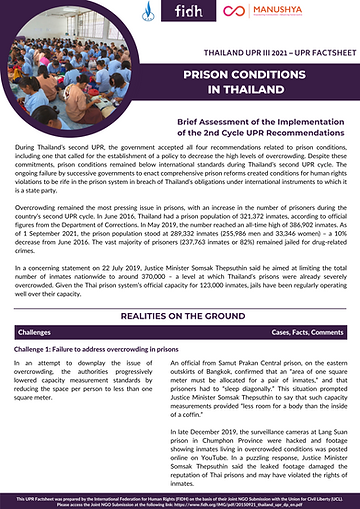 Prison Conditions Factsheet - Thailand UPR III .png