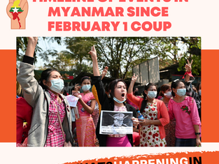 #WhatsHappeningInMyanmar - Myanmar Military Coup Timeline since February 1, 2021