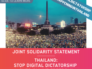 Joint Solidarity Statement - Thailand: Stop Digital Dictatorship Over Online Freedom!