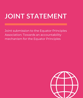 Joint Statement - Equator Principles Ass