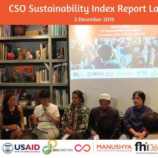 Thailand's CSO Sustainability Index Report Launch - 3 December 2019