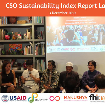 Thailand's CSO Sustainability Index Report Launch - 3 December 2019