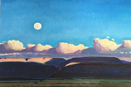 Moonset and Sunrise - Buffalo Hills