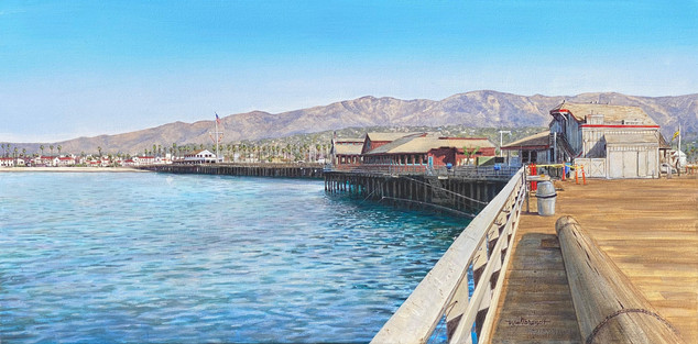 Morning on Stearn's Wharf, Santa Barbara