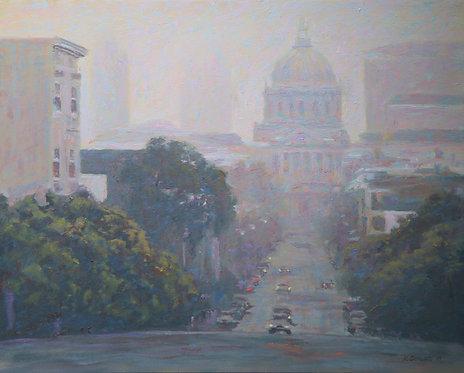 San Francisco City Hall in Fog