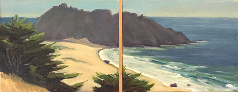 Point Sur Lighthouse Diptych