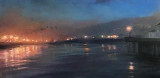 1988.Evening Lights, Stearns Wharf