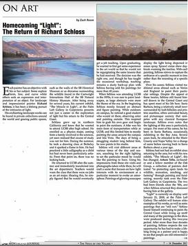"""Homecoming 'Light' : The Return of Richard Schloss"""