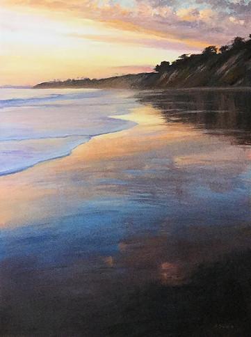 1985. Beach Sunset, Hope Ranch