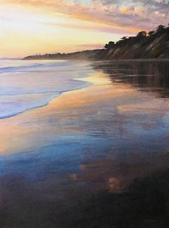 1985.Beach Sunset, Hope Ranch