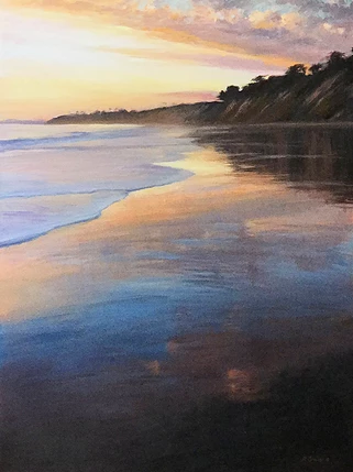 Beach Sunset, Hope Ranch