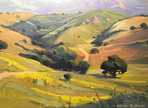 Gold Hills and Happy Sheep