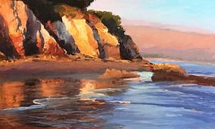 1986.Evening Light, Shoreline Beach