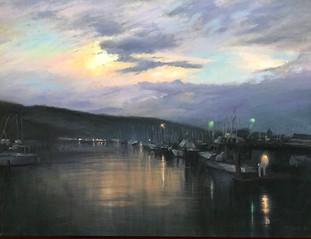 2021. Morning Lights, Santa Barbara Harbor