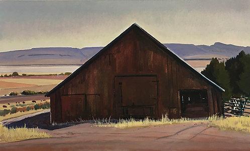 Mr. Gorzell's Barn and Snow Sky