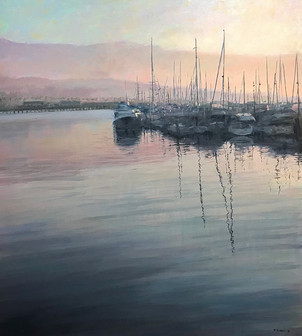Warm Morning Light, SB Harbor