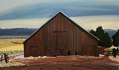 Snowy Morning at Gorzell's Barn