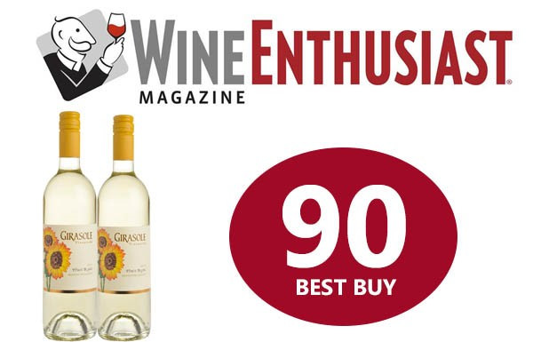 wine enthusiast award for Girasole Pinot Blanc