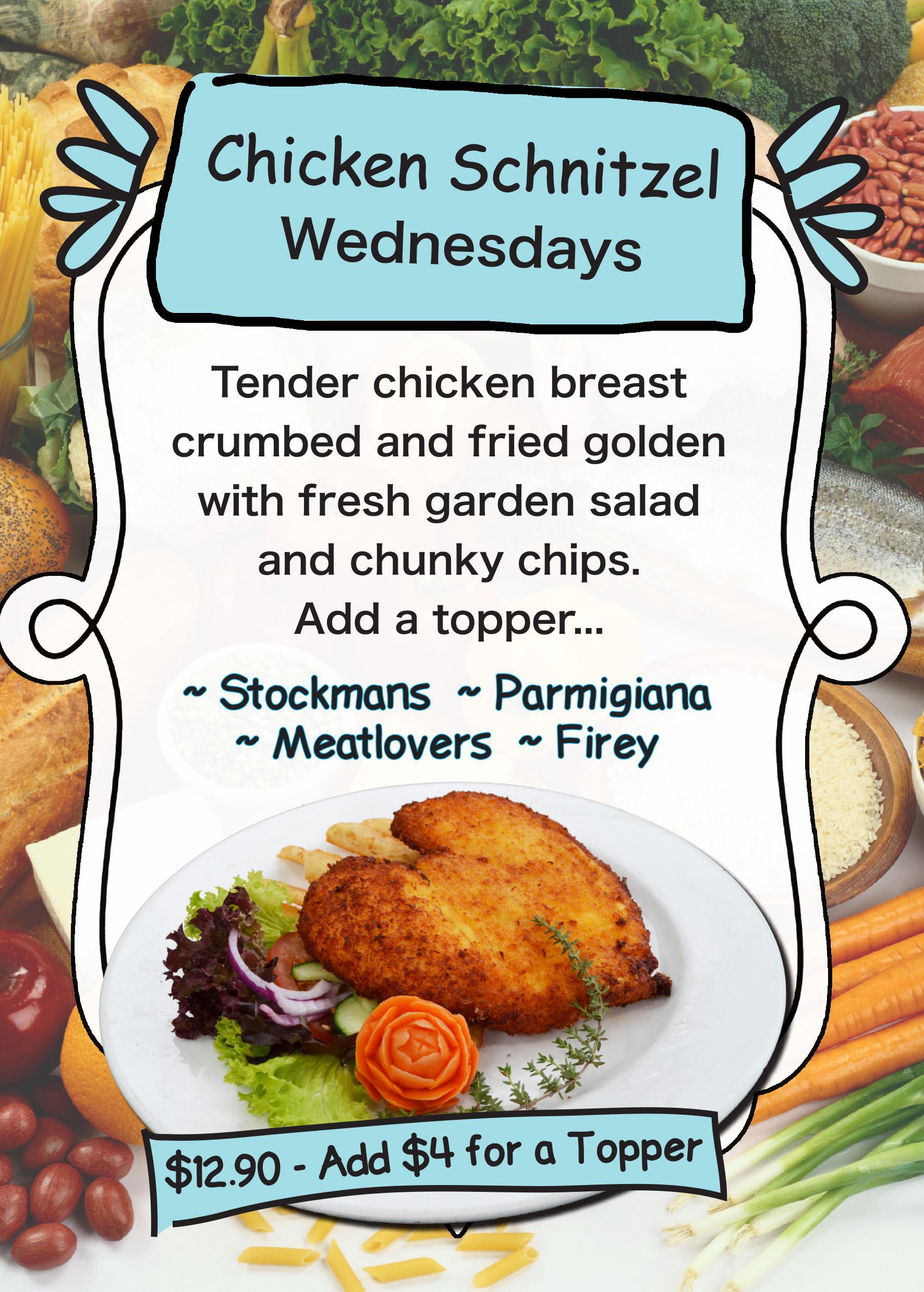 Chicken Schnitzel Wednesday