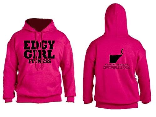 Edgy Girl pink hoodie