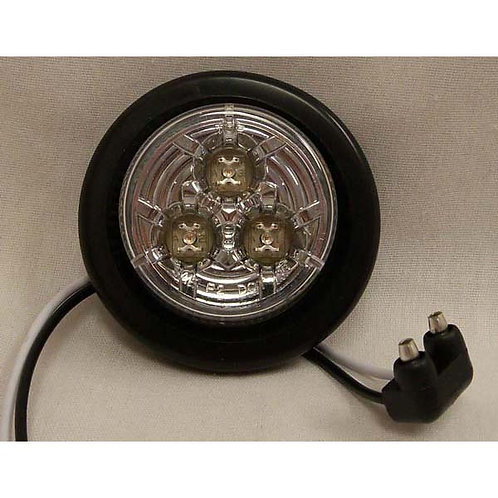 """2"""" Red\Clear Lens Reflective Clearance Marker- 3 Led"""